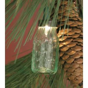 Glass Mini Mason Jar Ornament