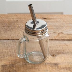 Glass Mug with Straw