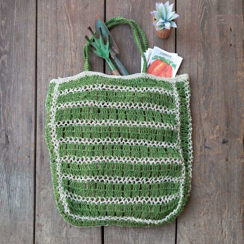 Green Jute Tote Bag