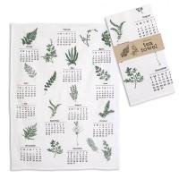Greenery Calendar Tea Towel