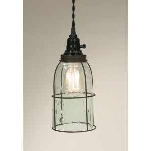 Half Gallon Caged Mason Jar Pendant Light