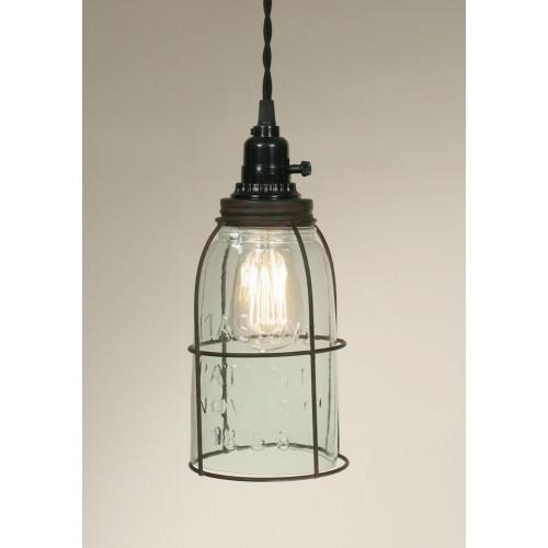 Half Gallon Caged Mason Jar Pendant Light