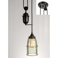 Half Gallon Caged Mason Jar Pulldown Pendant Light