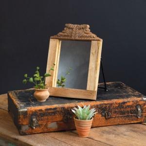 Handcarved Wooden Freestanding Mirror
