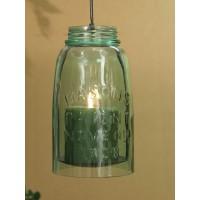 Hanging Mason Jar Pillar Holder - Half Gallon