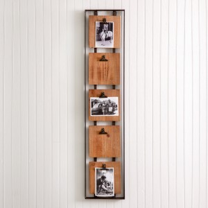 Hanging Photo Holder with Five Clips