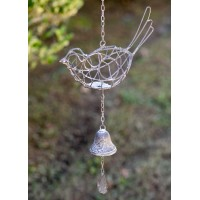 Hanging Wire Bird with Bell