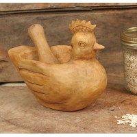 Hen Mortar and Pestle