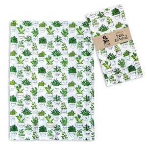 Herbs and Spices Tea Towel - Box of 4