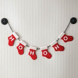 Ho Ho Ho Stocking Garland