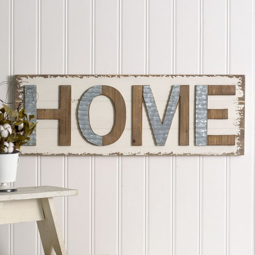 """""""Home"""" Wall Sign"""