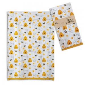 Honeybee Tea Towel - Box of 4