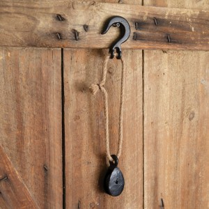 Hook With Cast Iron Pulley
