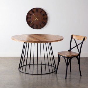 Industrial Iron and Wood Table