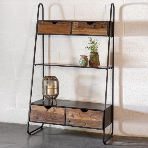 Industrial Shelf with Drawers