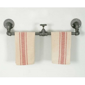Industrial Towel Rack with Valve