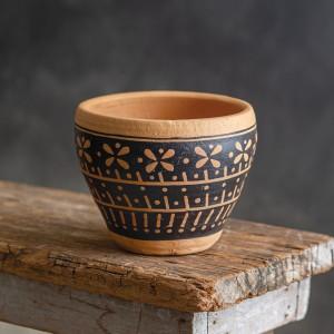 Jasmine Painted Pot