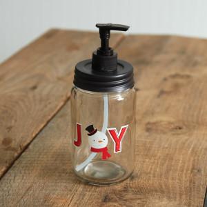 Joyful Snowman Soap Dispenser