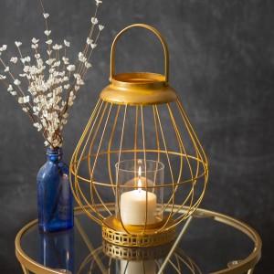Juno Gold Wire Lantern