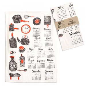Kitchenware Calendar Tea Towel