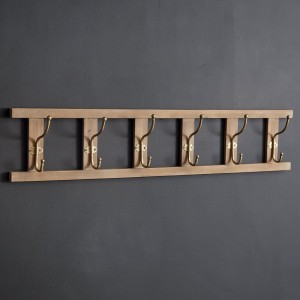 Ladder Six Hook Wall Rack