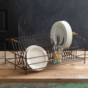 Large Antique Brass Plate Rack