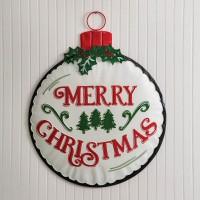 Large Christmas Ornament Wall Decor