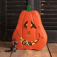 Large Jack-O'-Lantern Candle Holder