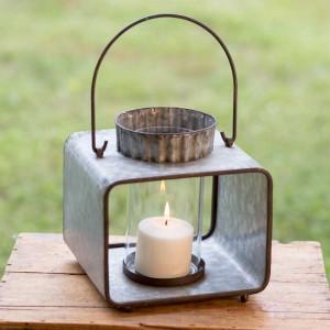 Large Jonah Candle Lantern with Glass
