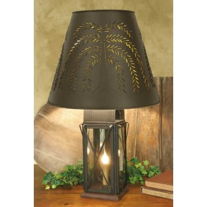Large Milk House 4-Way Lamp with Willow Shade