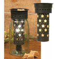 Large Punched Stars Quart Mason Jar Wax Warmer Kit