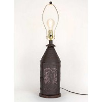 Large Punched Willow Paul Revere Lamp - No Shade