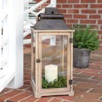 Large Rustic Wood Lantern