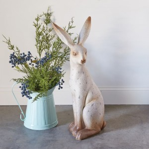Large Speckled Rabbit Sculpture