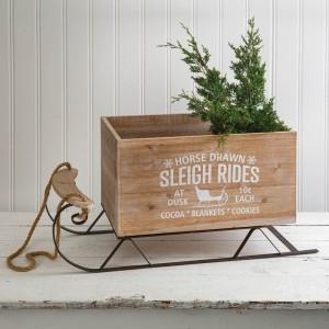 Large Wood Sleigh