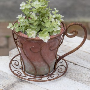 Latte Cup Flower Pot
