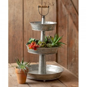 Laurel Three-Tier Metal Tray