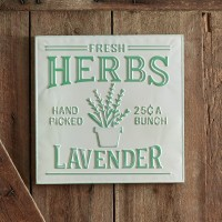 Lavender Herbs Sign