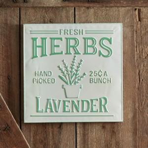 Lavender Herbs Sign