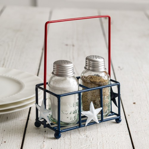 Liberty Salt and Pepper Shaker Caddy - Box of 2
