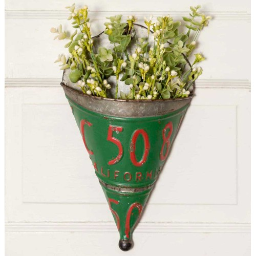 License Plate Wall Planter