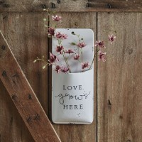 Love Grows Here Wall Pocket