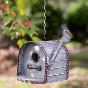 Mailbox Metal Birdhouse