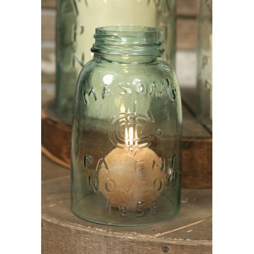 Mason Jar Chimney - Midget Pint Size