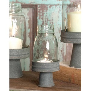 Mason Jar Chimney with Stand - ¼ Pint
