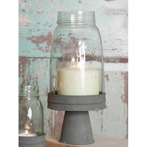 Mason Jar Chimney with Stand - Quart