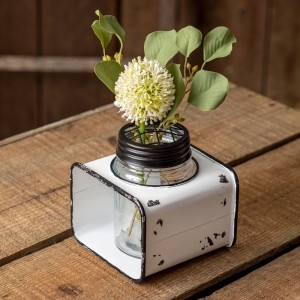 Mason Jar Flower Frog with Caddy