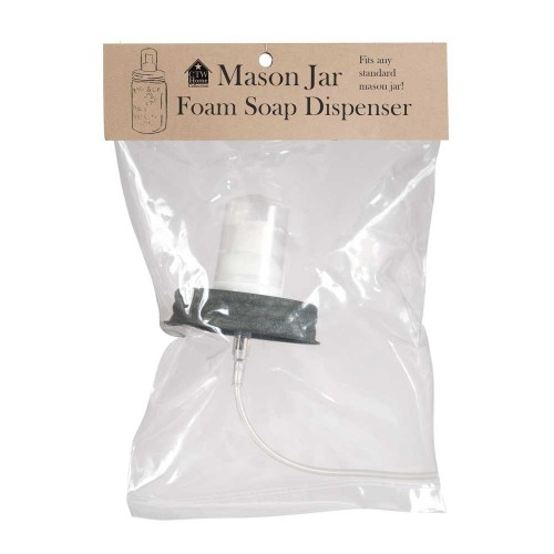 Mason Jar Foaming Soap Dispenser Lid - Barn Roof