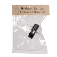 Mason Jar Foaming Soap Dispenser Lid - Black