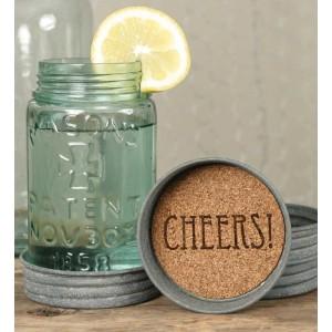 Mason Jar Lid Coaster - Cheers